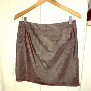 LOFT Silk Mini Skirt